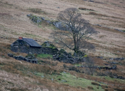 The Cottage under Snowdon and near the Pe-Y-Gwryd Hotel where merry a night was spent. walk back across the bogs and streams in the dark was fun
