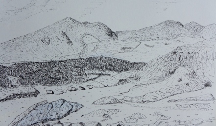 The Scafell range of mountains