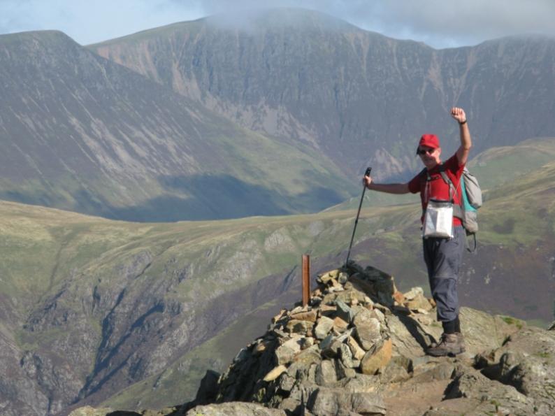 On the summit of Haystacks