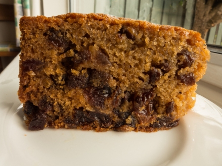 My Mary Berry home-made fruit cake- guaranteed to keep you going on a walk.