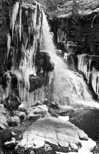 Swaledale Eat Gill Force BW