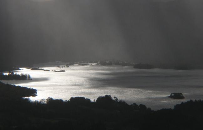Derwentwater sun snd storm